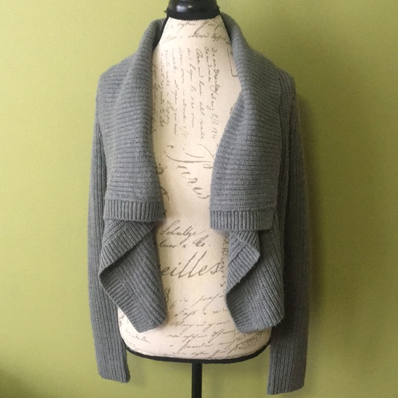Express Sweaters - Express gray cropped sweater cardigan